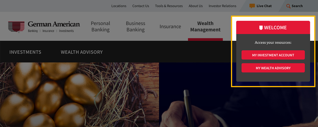 Wealth Management slider